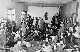 Women survivors in Bergen-Belsen