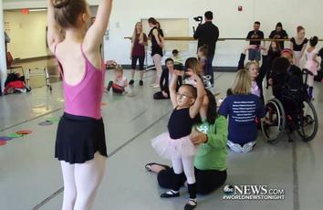 Sarai Arce learns to dance