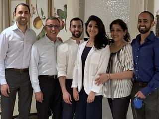 Dr. Omar Atiq and his family