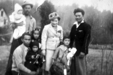 Kitamoto family on day of mass removal. Felix Narte, on right