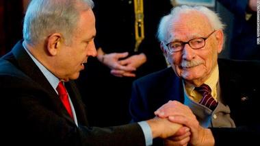 Israeli Prime Minister Benjamin Netanyahu and Johan van Hulst in 2012