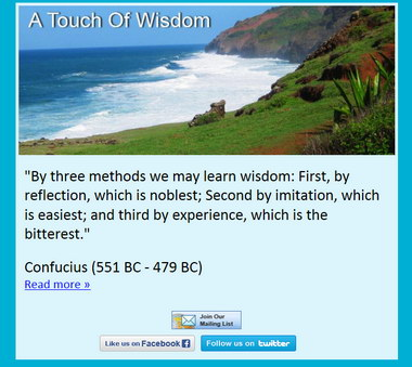 Click Photo To Join A Touch of Wisdom