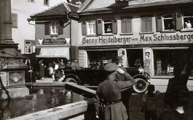 The Heidelberger's Hardware store in Bad Mergentheim, Germany 1938